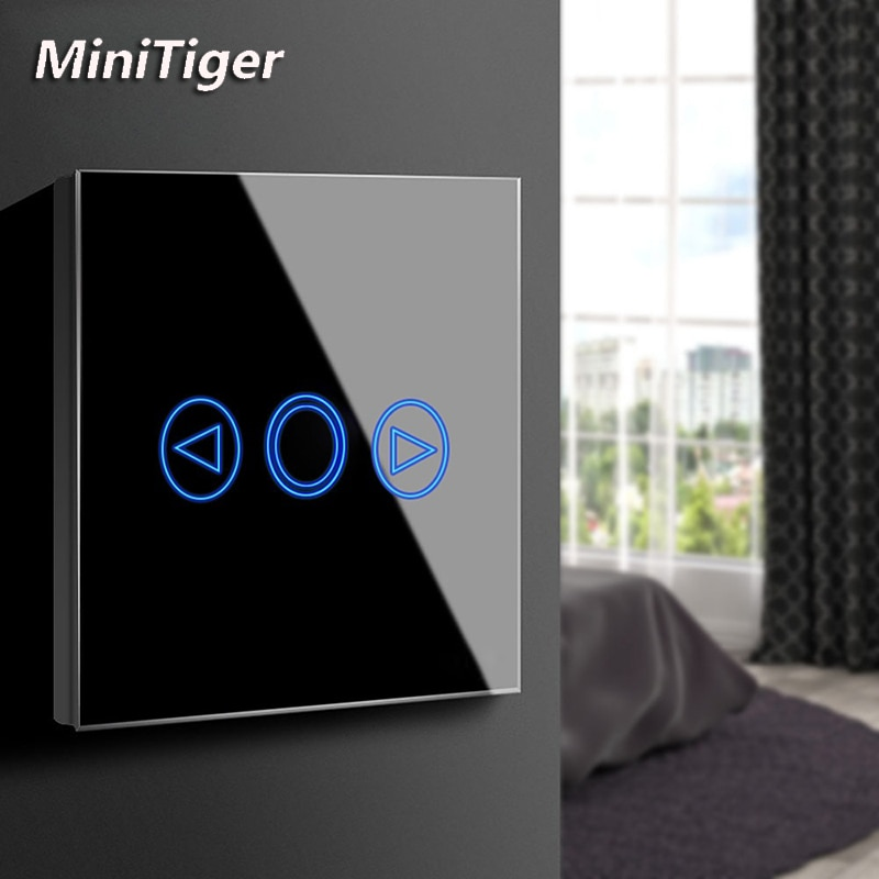 MiniTiger ab/İngiltere standart led ışık dokunmatik anahtarı dokunmatik sensör Dimmer duvar güç dokunmatik ekran dokunmatik ışıklı anahtar cam Panel