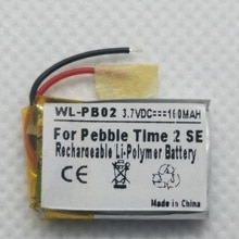 Batería de repuesto li-po de 3,7 V para Pebble Time 2 SE Smartwatch Smart Watch 160mAh polímero acumulador recargable LSSP441522AE
