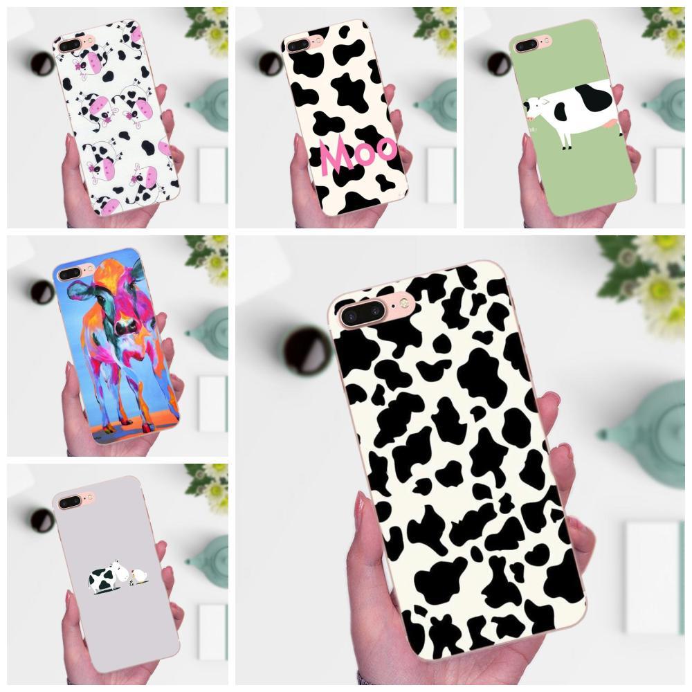 Funda de TPU para Huawei Mate 7, 8, 9, 10, 20, P8, P9, P10, P20, P30 Lite Plus Pro 2017, con dibujo de vaca bonito Animal