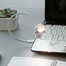 Flexible Computer USB Powered Light Lamp Astronaut Style Bulb for Laptop PC Reading Tablet Accessori