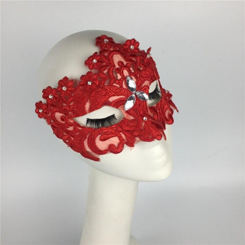 Máscaras de Cosplay para chicas, hermosas máscaras personalizadas de Venecia para fiesta, máscara de escenario, máscara de encaje para Halloween, sombreros de noche de Brujas, B-9534