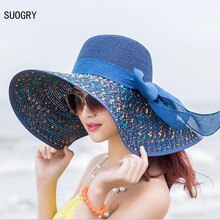 1 Pcs frauen Strand Hüte Caps 2019 Sommer Mode Faltbare Chiffon Floppy Sun Hüte Casual Damen Sombreros Bowknot Hut damen