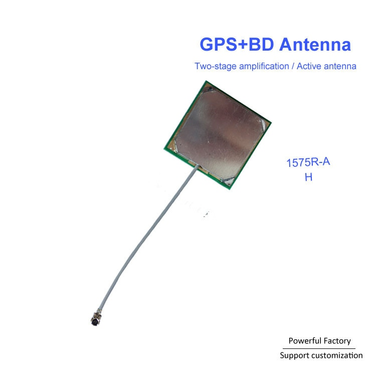 Wholesale Built-in BD gps patch antenna two-stage amplifier 1575R-A Active GPS Antenna with IPEX  1PCS