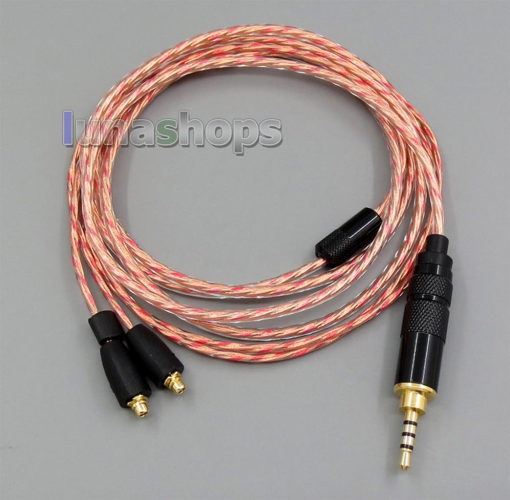 LN005368 2,5mm TRRS equilibrado de OFC blindaje del Cable del auricular para Shure se215 se315 se425 se535 Se846 AK100ii ak120 ak380