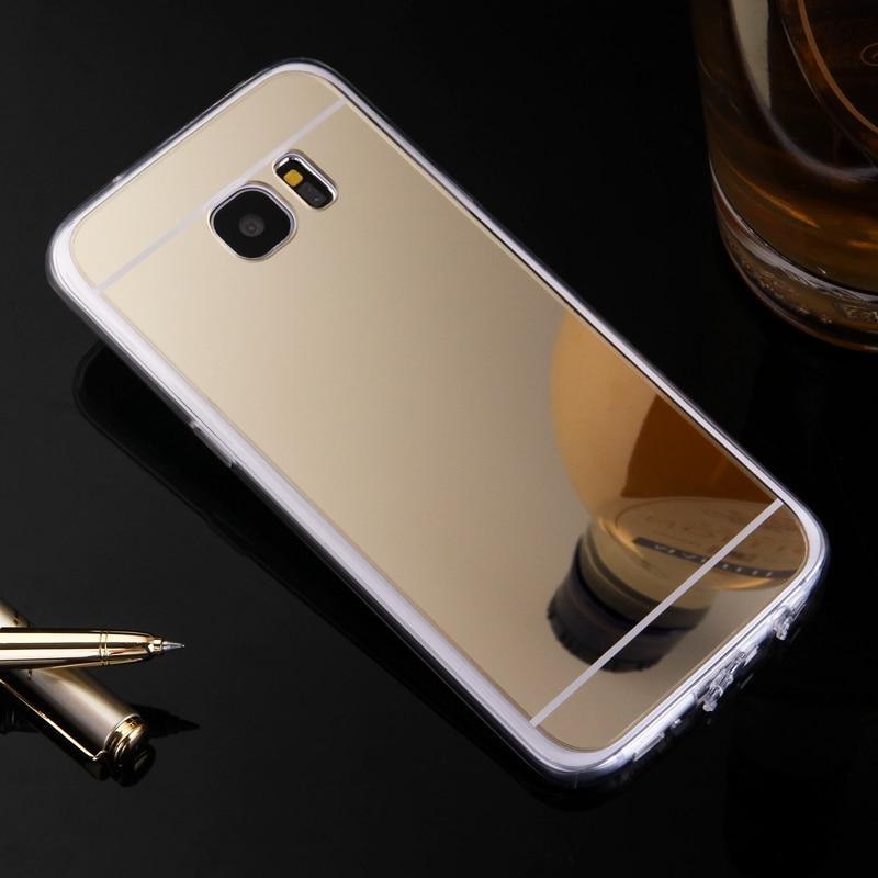Funda de lujo Etui para Samsung Galaxy J1 J5 J7 2016 J2 J3 S3 S4 S5, funda trasera de TPU con espejo para Samsung Galaxy S7 S6 Edge +