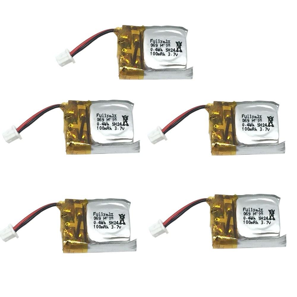 5 шт., 3,7 В, 100 мА/ч, Lipo батарея для Cheerson, CX-10, CX-10A, Hubsan, Q4, Wltoys, V272, мини-Квадрокоптер, Дрон, игрушечная батарея