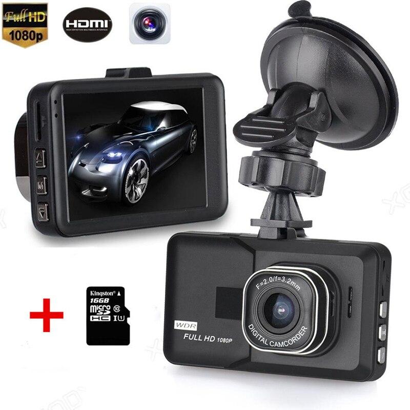 Traço cam 3.0 Polegada câmera do carro dvr câmera t626 1080 p fhd cam recorder wdr construído em monitoramento de estacionamento de gravação do laço do g-sensor com