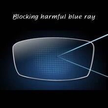 Lente ótica da prescrição da miopia presbiopia da única visão da lente 1.61 do raio anti-azul para eyewear da leitura da proteção dos olhos