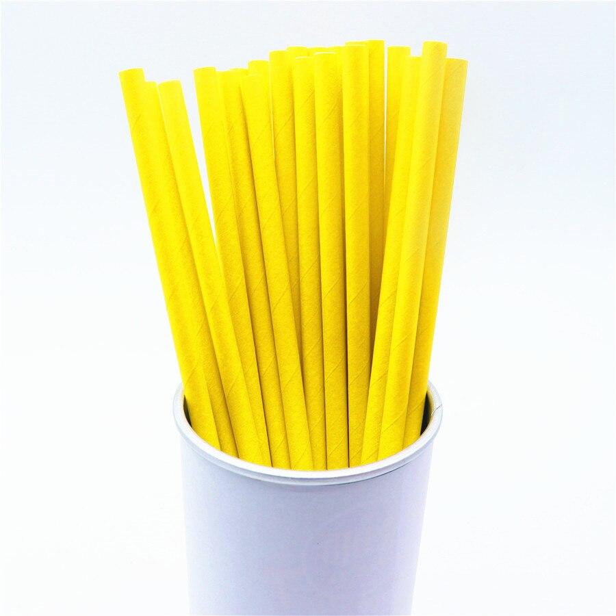 Pajitas desechables de papel negro, blanco y amarillo de 25 uds., pajitas para beber para bodas, cumpleaños y Navidad
