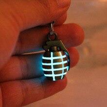 hand grenades Glowing keychain GLOW in the DARK Luminous Pendants keychains key