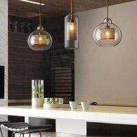 Postmodern Nordic Iron Glass Bubbles LED Pendant Lights For Dinning Room kitchen Restaurant Suspension Luminaire lamp