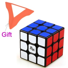 New 3X3 Magnetic Version MGC Magic Cube Speed Cube for Brain Training - Black/White