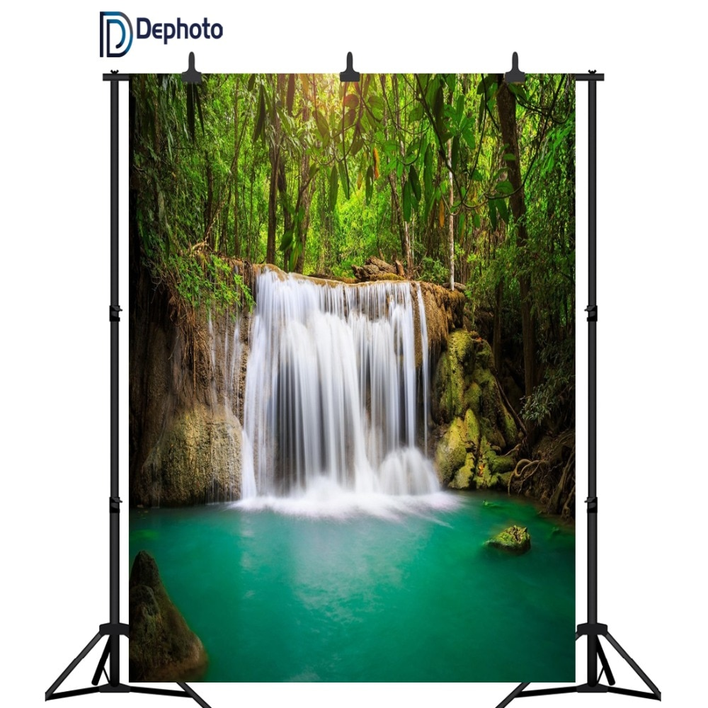DePhoto bosque montaña cascada paisaje retrato fotografía fondos fotográficos personalizados para estudio fotográfico