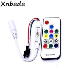 Светодиодный контроллер Dream-Color, с 14 клавишами, Радиочастотный пульт дистанционного управления, 358 видов эффектов для WS2811 WS2812 WS2812B SK6812, светодиодная лента