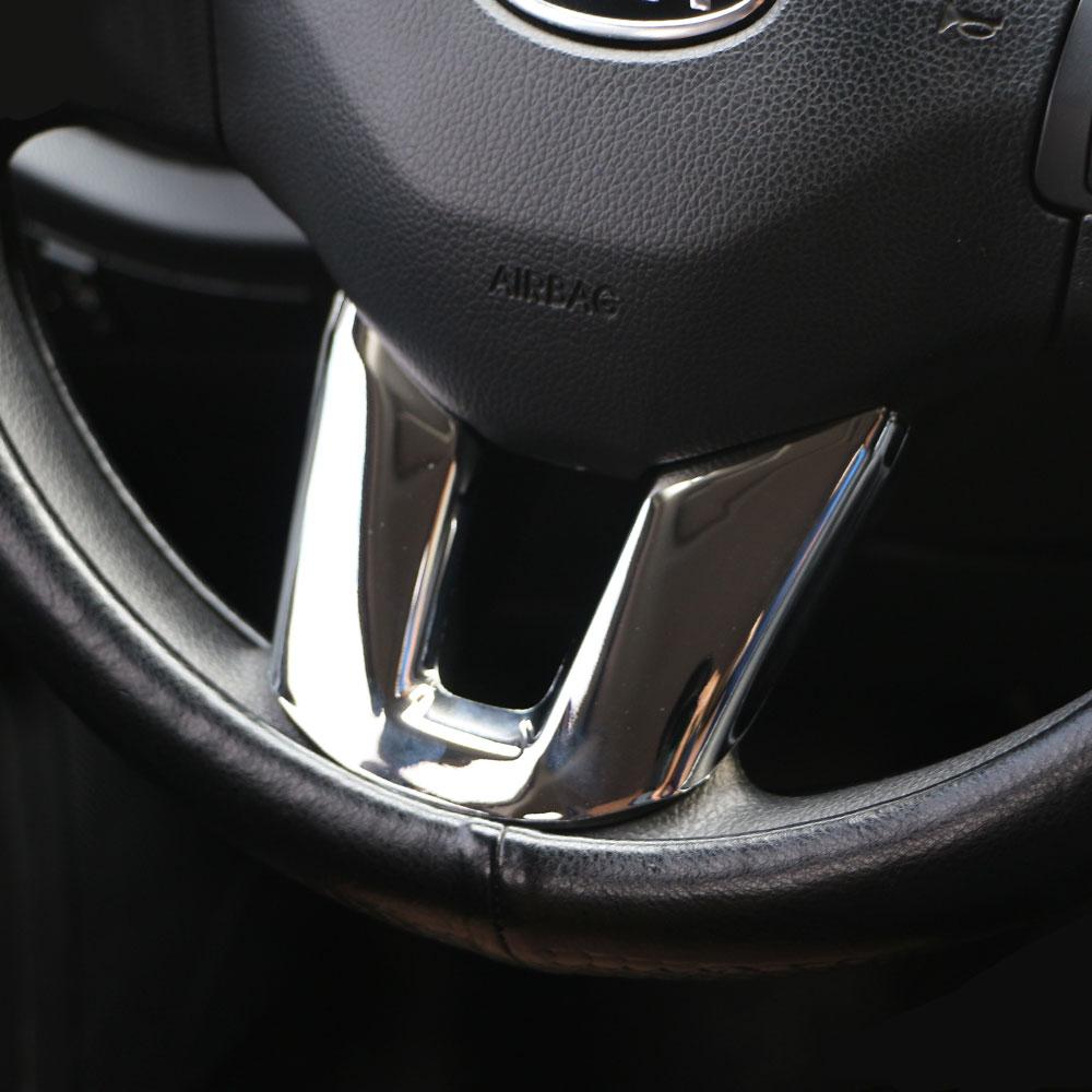 Jameo Auto Car Chrome Steering Wheel Decoration Trim Stickers for Kia Sportage R 2012 2013 2014 2015 2016 Styling Accessories