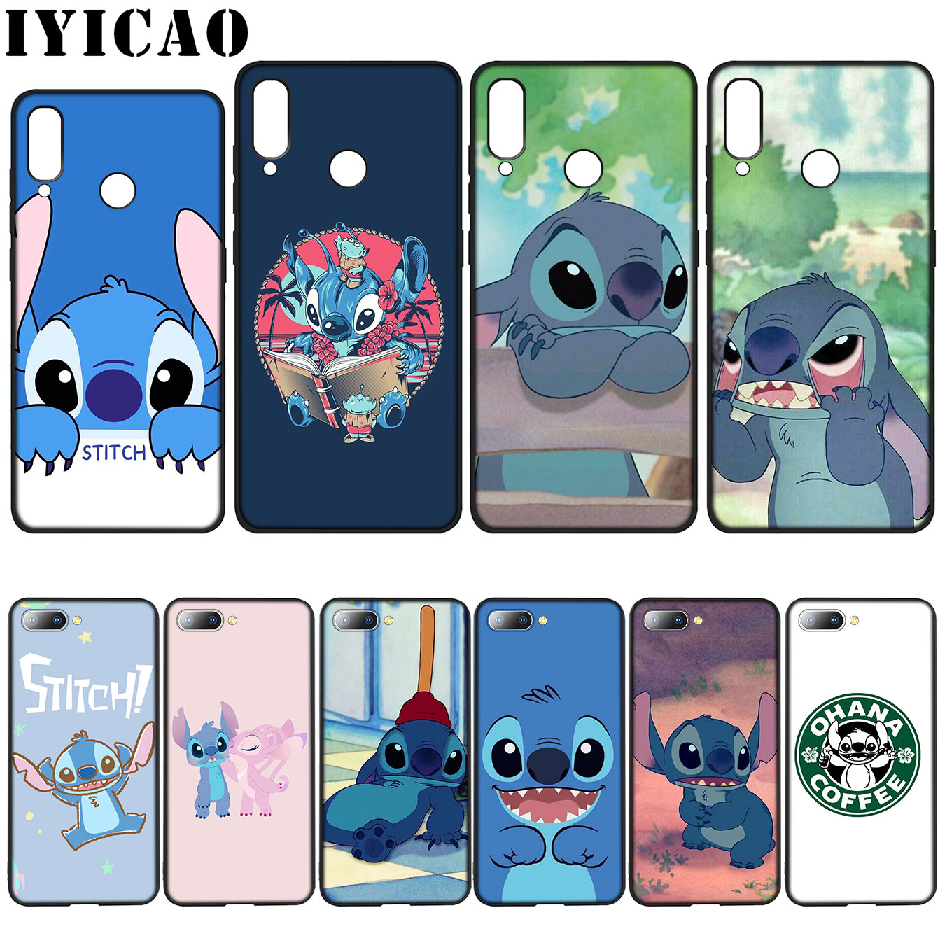 IYICAO cute cartoon Lilo Stitch Colorful Cute Soft Case for Huawei Y7 Y6 Prime Y9 2018 Honor 8C 8X 8 9 10 Lite 6A 7C 7X 7A Pro