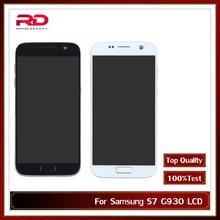 AMOLED LCD 5.5 pour Samsung Galaxy S7 LCD G930 G930F LCD écran tactile numériseur assemblée avec cadre noir argent