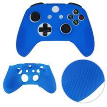 Coque de manette souple silicone caoutchouc peau étui de protection couverture étui anti-poussière pour Microsoft Xbox One S contrôle L3FE