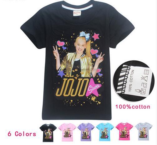 Детские хлопковые футболки с коротким рукавом От 4 до 14 лет JOJO SIWA, футболка для девочек-подростков, лето 2018