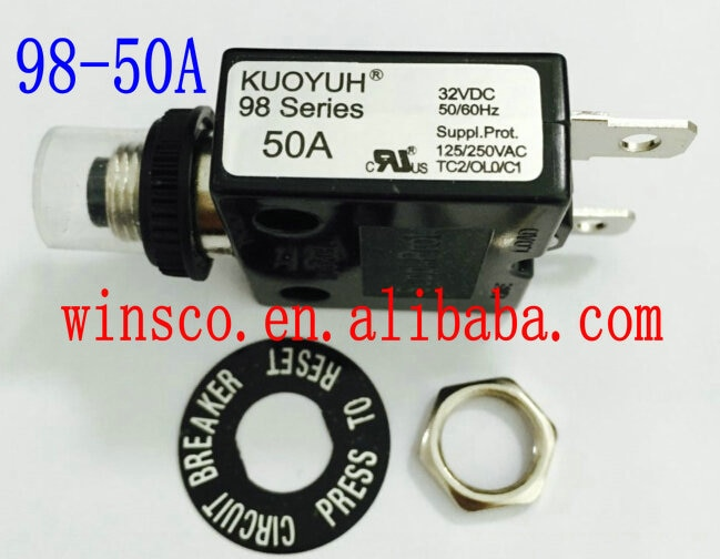 50A impermeable cap 100% nuevo KUOYUH disyuntor 98 serie 50A