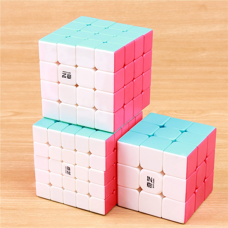QIYI warrior 3x3x3 speed magic cube stickerless 4x4x4 professional puzzle cubo 5x5x5 smoothly cubes educational toys 4x4x4 qiyi magic cube professional speed puzzle cube educational toys for kids children xmas gifts cubo magico rubic