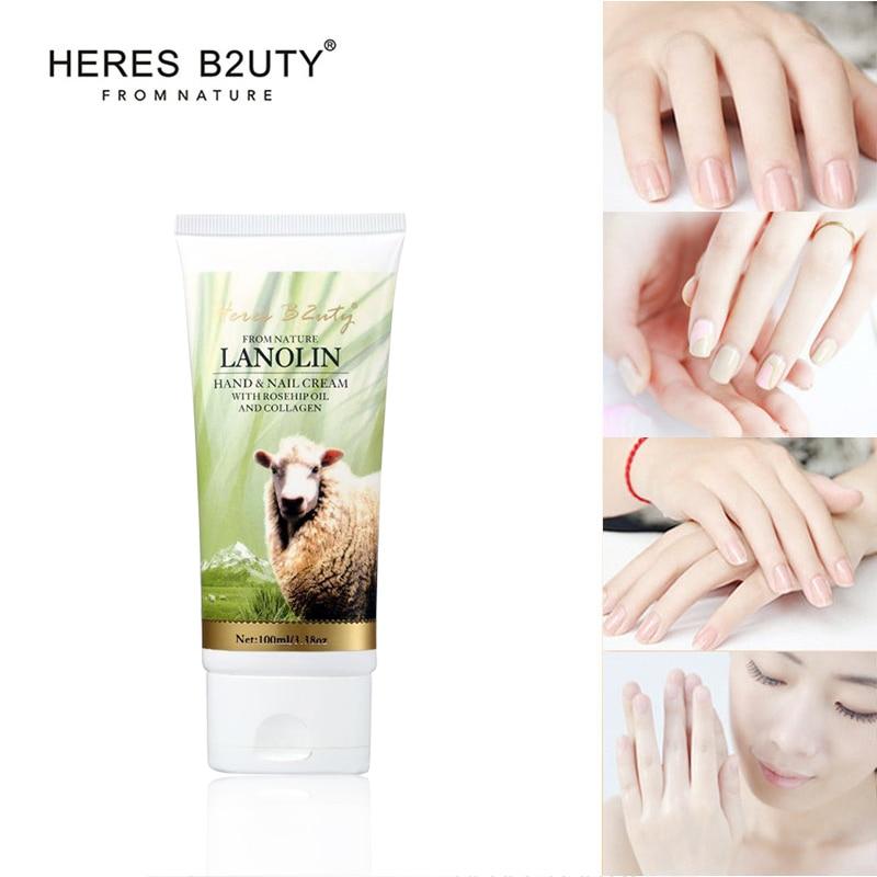 New HERES B2UTY Lanolin Hand Cream  Moisturizing Hand&nail Cream  Whitening Nourishing Anti-chapping Hand Lotion collagen