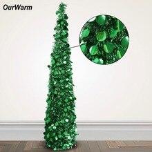 OurWarm-arbre de noël à paillettes scintillantes   Décoration Pop-Up noël nouvel an, 150cm, décorations de noël pour maison