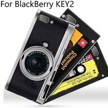 2pcs For BlackBerry KEY2 case For BlackBerry KEY 2 case cover retro cartoon Soft cases For BlackBerry BBF100-4 back cover shell