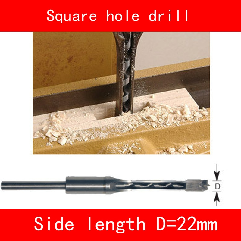 Square hole drill side length 22mm for Woodworking machine