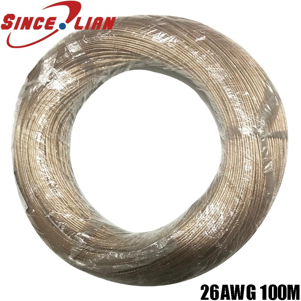 100 Meter/lot transparent kabel lautsprecher kabel 2pin gold silber verzinnt kupfer audio kabel 0,15 platz LED draht audio lautsprecher Linie