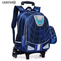 trolley children waterproof school bags for boys spiderma backpack wheeled kids schoolbag student luggage bags mochila infantil