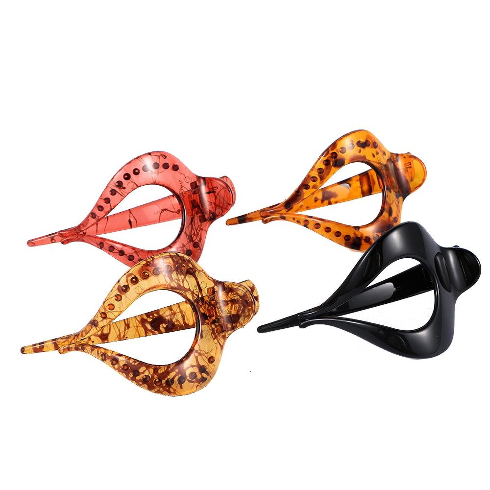 4 colores moda mujer diseño de forma de amor de plástico pinzas para el cabello herramienta de peluquería Accesorios