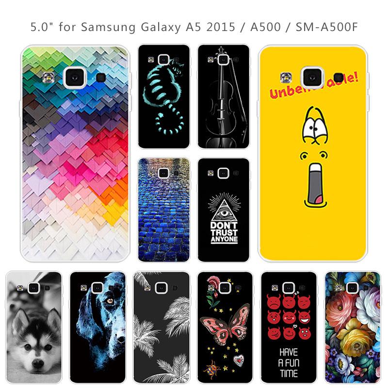 TPU suave para Samsung Galaxy A5 2015 A500 funda de teléfono de silicona transparente TPU cubierta trasera para Galaxy A5(2015) Protector ladrillo carretera Coque