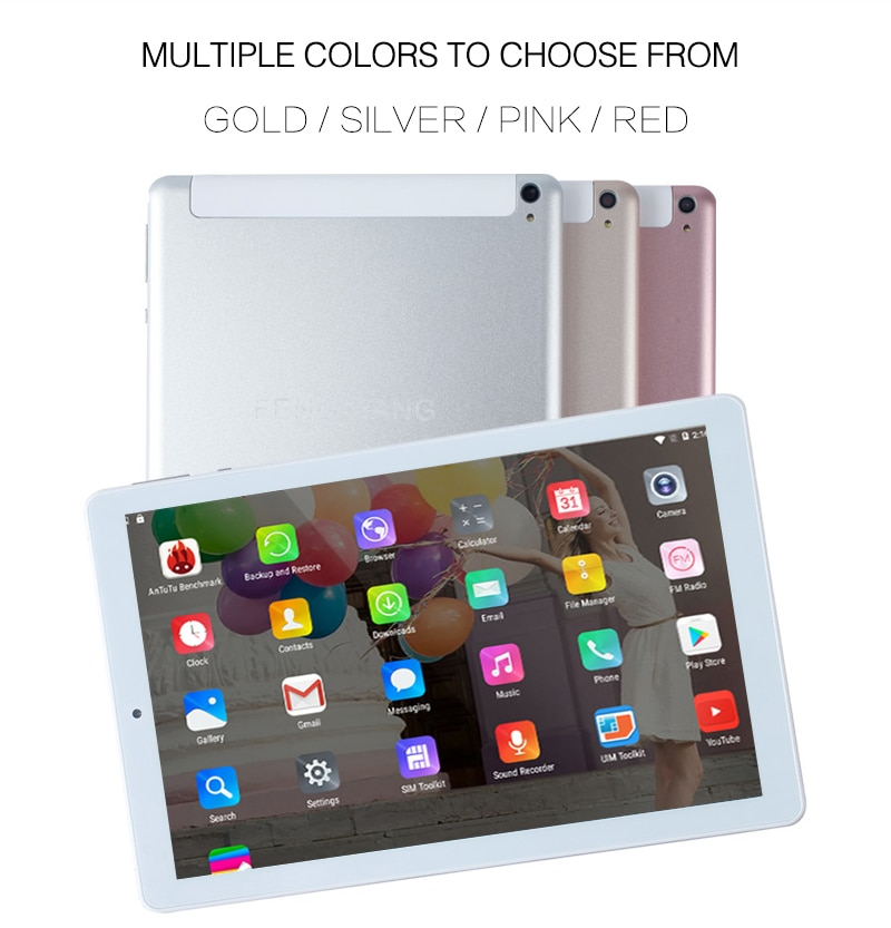 Tablet 10.1 Inch Phone Dual SIM Tablets Pc Android 7.0 Google Play 4/Quad Core 2GB/32GB IPS Tablet 7 8 9 10 Metal Tablet Pc
