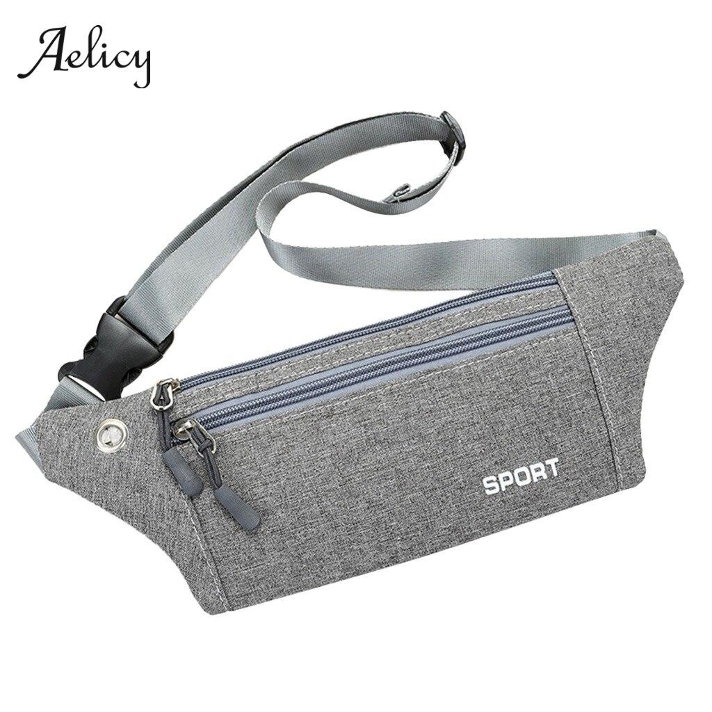 Aelicy Cycling Pack Gym Bags multifunción Running Bag 2019 ultraligero impermeable teléfono cinturón cintura bolsa Deporte Fitness bolsillos