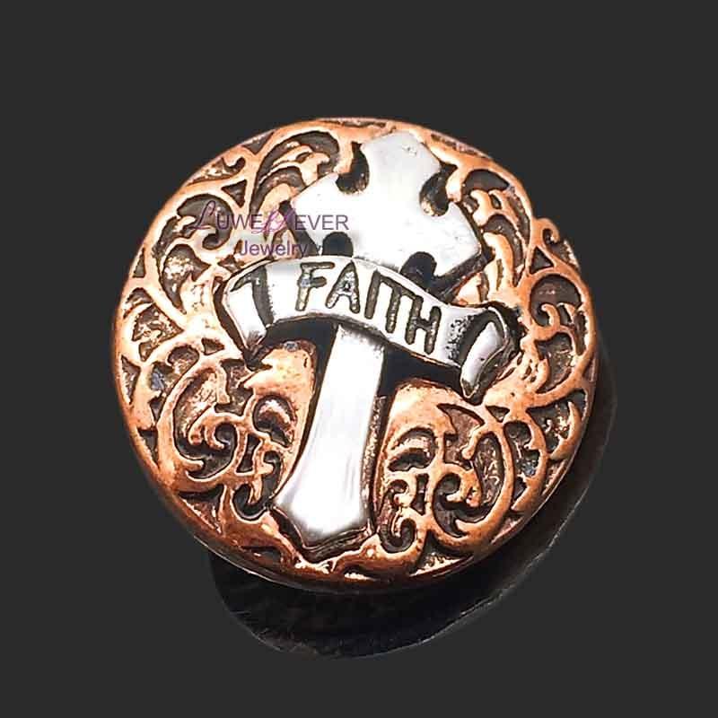 Оптовая продажа w288 крест 18 мм металлическая кнопка для браслета ожерелья ювелирные изделия для женщин ювелирные изделия Модные аксессуары