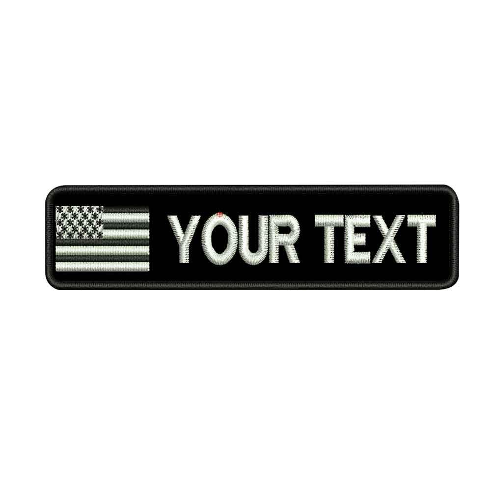 Parches de nombre personalizados de EE. UU., parches de hierro personalizados con bordado de respaldo de gancho