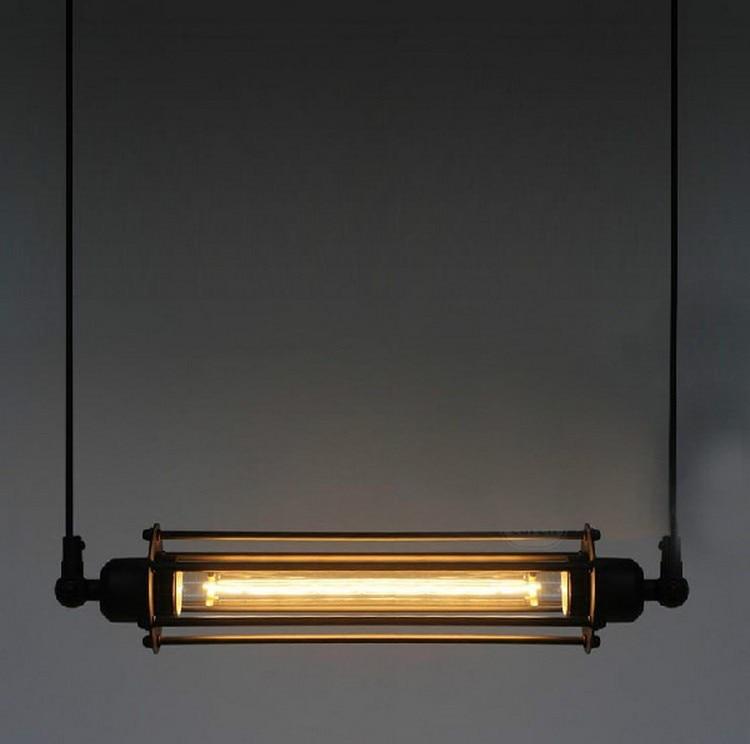 Vintage American RH Loft Edsion E27 Bulb Pendant Light Steampunk Industrial Metal Pendant Tube Lamp Coffee Bar Restaurant Lights