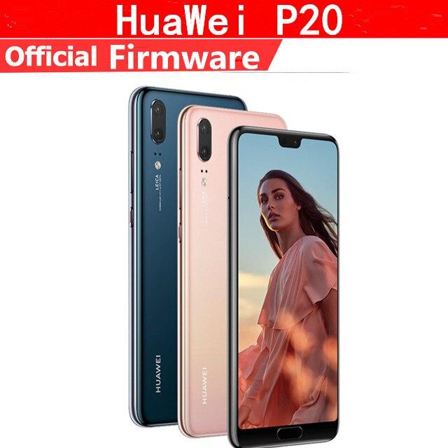 "Téléphone portable dorigine HuaWei P20 4G LTE Kirin 970 Android 8.1 5.8 ""plein écran 2440x1080 6GB RAM 128GB ROM 24.0MP AI"
