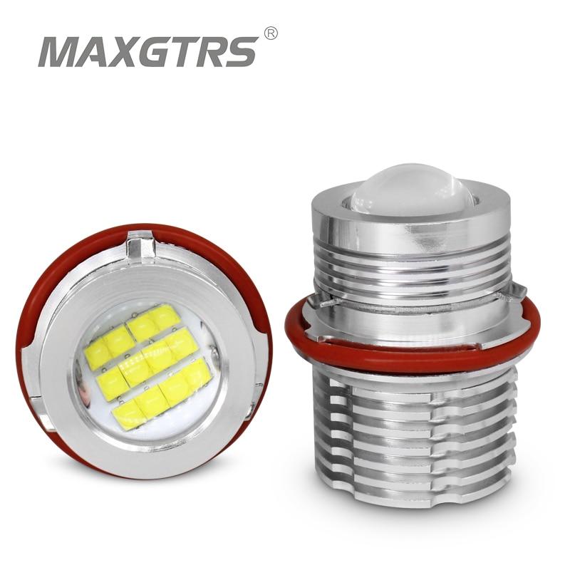 2x de alta potencia 120W LED conjunto marcador blanco LED Chips para BMW E60 E53 E63 E83 E87 E39 E61 LED Ojos de Ángel anillo Halo accesorios de coche