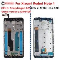 MTK Helio X20/Глобальная версия 32 ГБ/64 Гб Snapdragon 625 ЖК-дисплей кодирующий преобразователь сенсорного экрана в сборе + рамка для Xiaomi Redmi Note 4