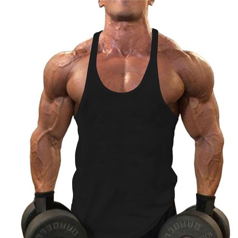 Gyms Stringers Tank Top Men Fitness Clothing Sleeveless Singlet Top Tank Quick Dry Vest Tanktop Black White Tanks Tops