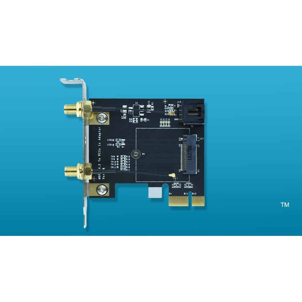 NGFF M.2 ключ A к PCIe, адаптер для Wi-Fi карты M2 к PCI-E для 7260NGW 7265NGW 8260NGW 8265NGW 3160NGW 316 8ngw