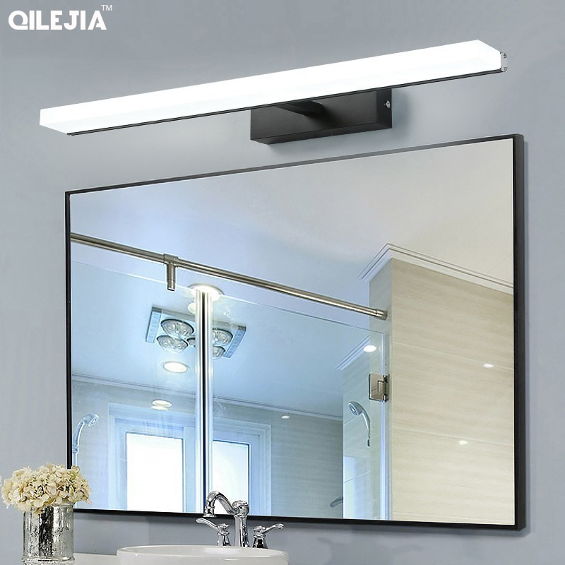 7w 9w 13w 16w Led Acrylic Wall Lamps black sliver bathroom Living Room Indoor mirror wall lights 40cm 60cm 80cm 100cm bathroom