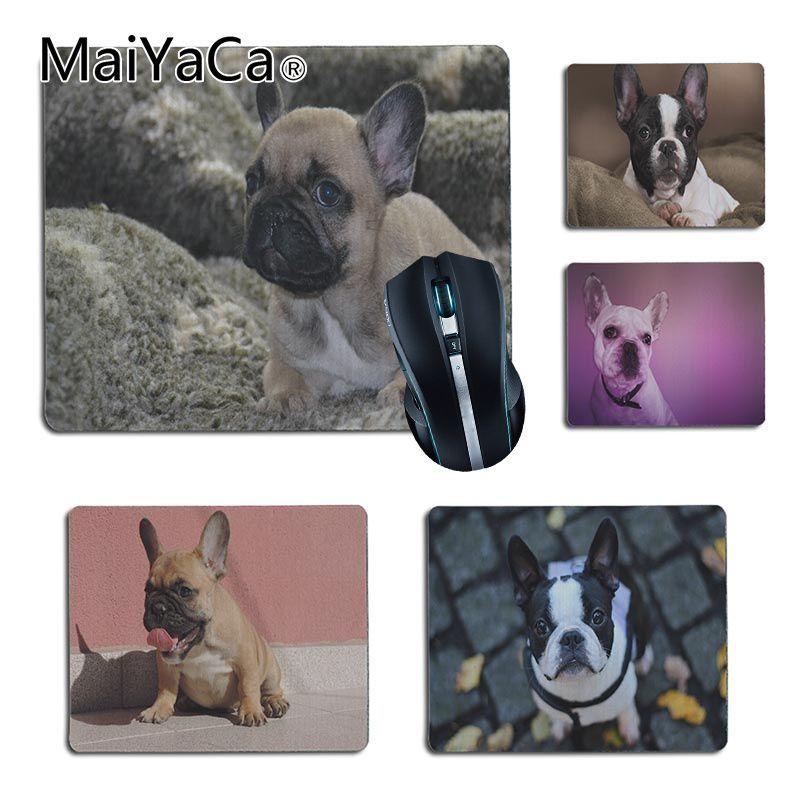MaiYaCa خمر كول الفرنسية البلدغ الكلب Kawai الكمبيوتر الألعاب مفارش ماوس كمبيوتر حجم 25x29 سنتيمتر 18x22 سنتيمتر المطاط mousemat