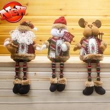 6 pcs/lot Christmas Snowman Deer Santa Claus,Christmas Decorations for Home Window,Elf On the Shelf Christmas Gift Plush Toys