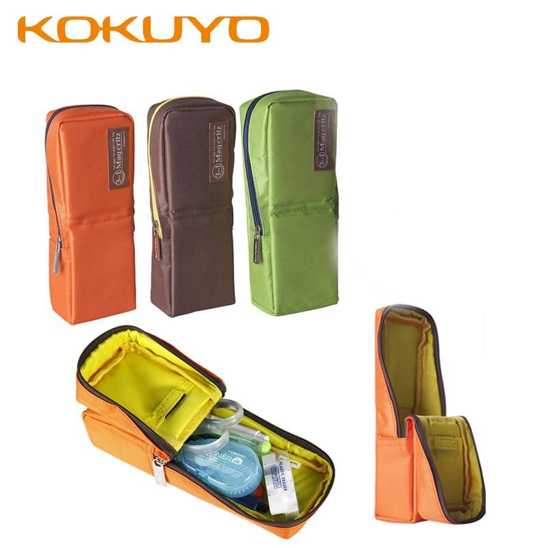 KUKUYO Cute Portable Canvas Pencil Bag Make Up Bags Stationary School Tools For Kids Children Zipper Pencil Case School Supplies