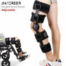 JayCreer-genouillère, genouillère ROM articulée, pour la stabilisation de la récupération, stabilisateur de soutien orthopédique médical réglable