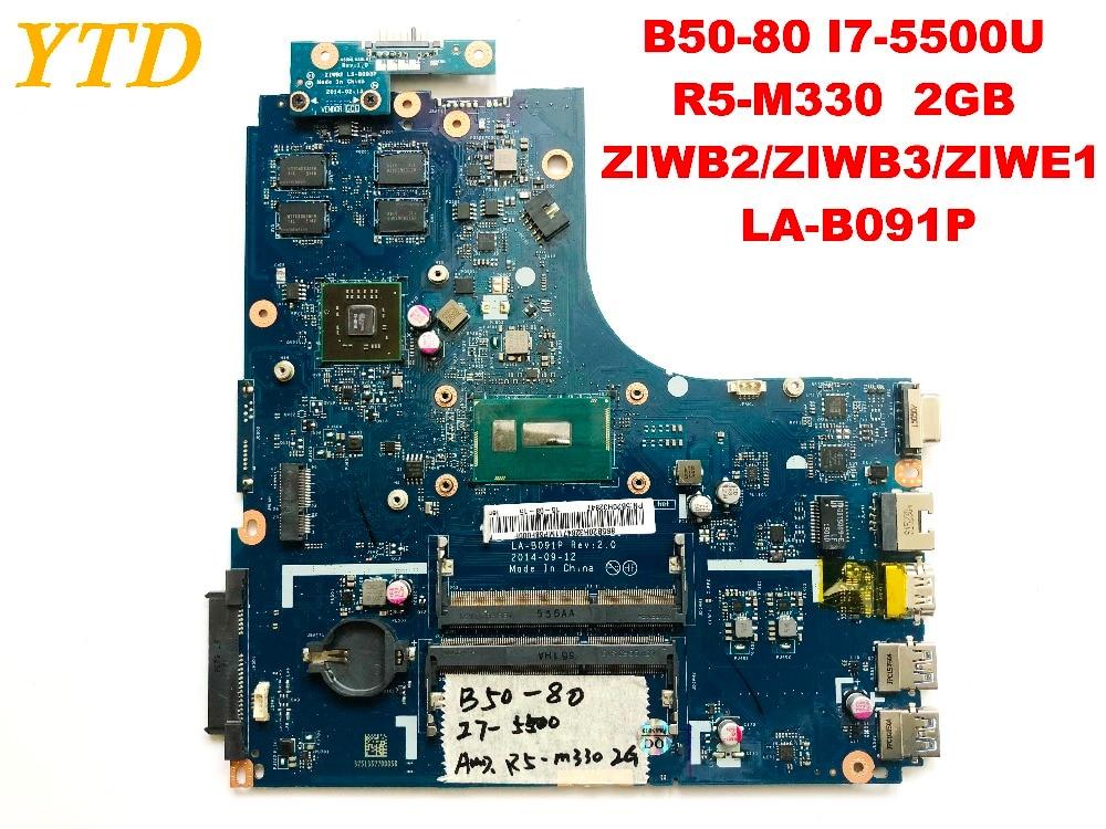 Original para Lenovo B50-80 placa base de computadora portátil I7-5500U R5-M330 2GB ZIWB2 ZIWB3 ZIWE1 LA-B091P probada buena envío gratuito
