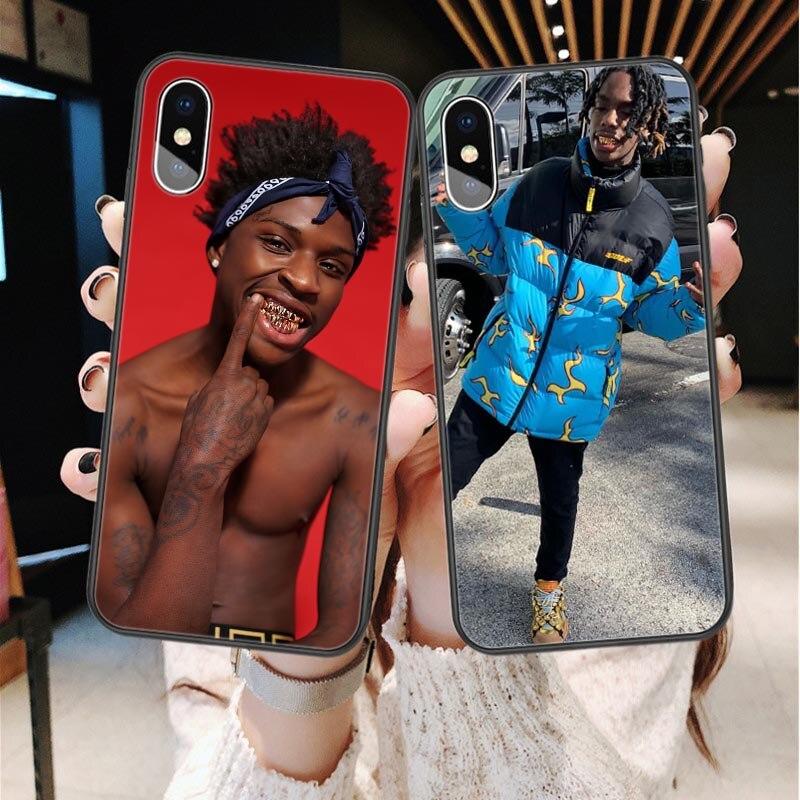 Ynw Melly Scarlxrd funda para teléfono para iPhone X XS X MAX XR caso Quando Rondo funda de silicona para iPhone 8 SE 5 5S 6 6 s plus 7 8 Plus